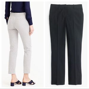 NWT J. Crew Black Cropped Seersucker Trousers. Sz0